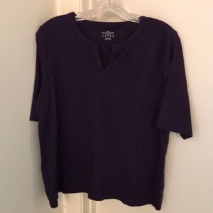 Lands End Elbow Sleeve Top